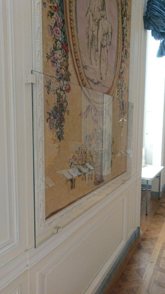 vitre de protection tapis